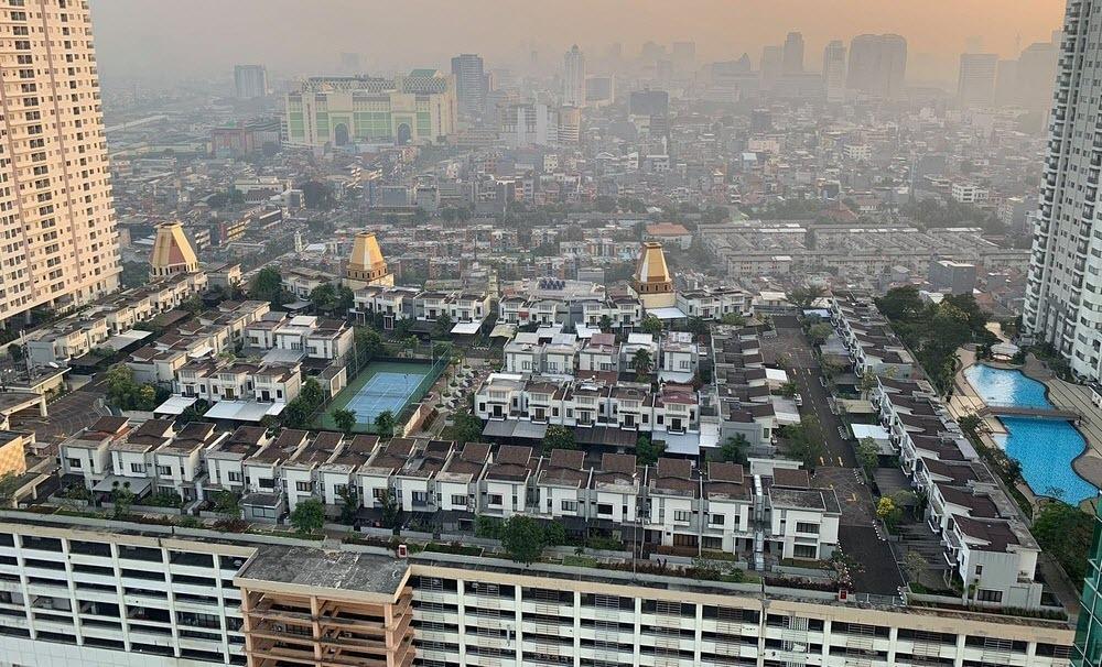 Toàn cảnh ngôi làng trên nóc của trung tâm thương mại Thamrin City. Ảnh:Shahrir Bahar/Instagram.
