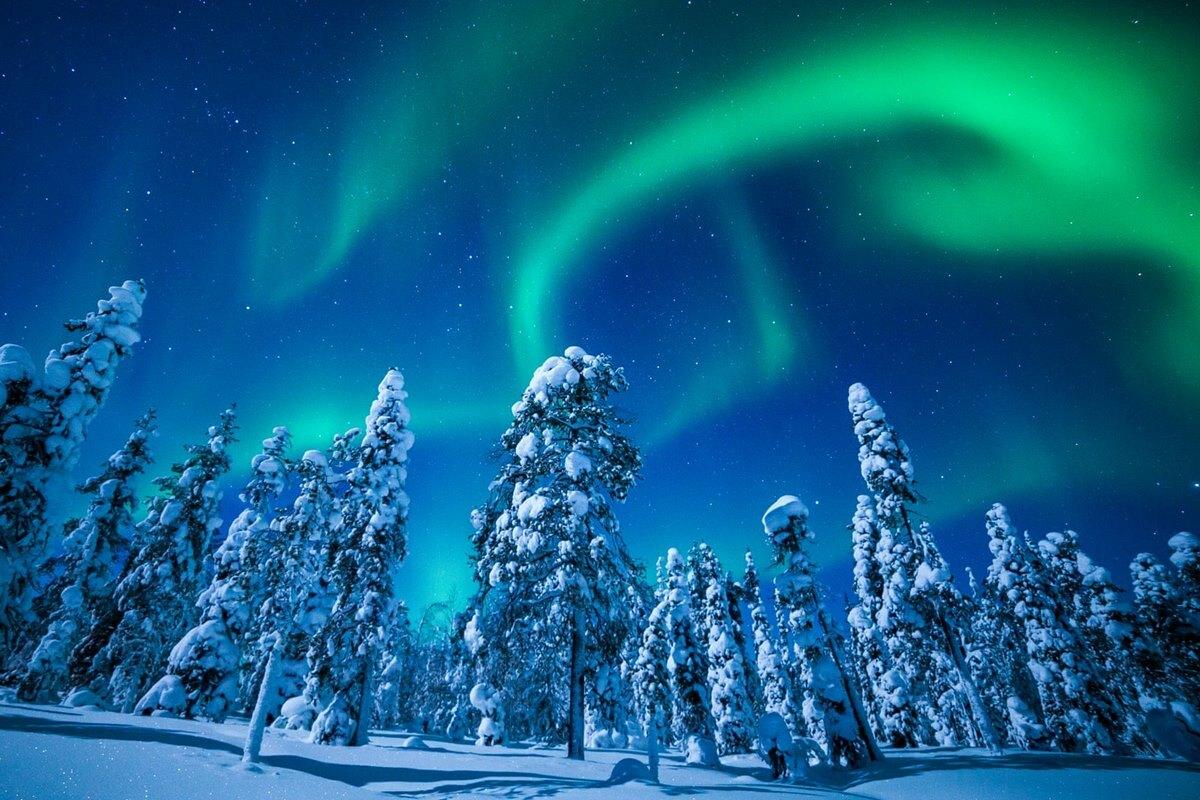 Hình ảnh cực quang được ghi lại từ hồ Torassieppi, Phần Lan. Ảnh: Antti Pietkainen.