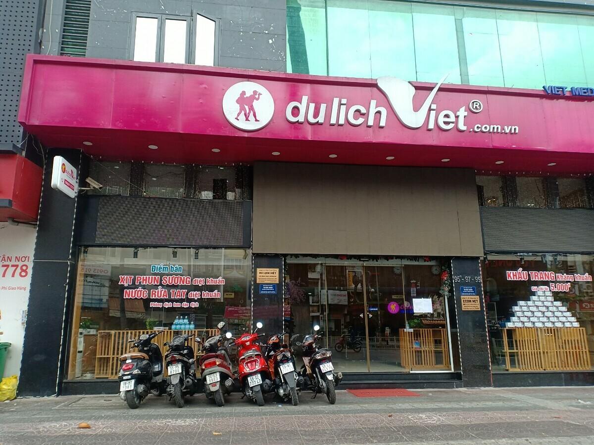 Trụ sở công ty Du Lịch Việt cũng là điểm phân phối sản phẩm của công ty Ecom Net. Ảnh: Nguyễn Nam.