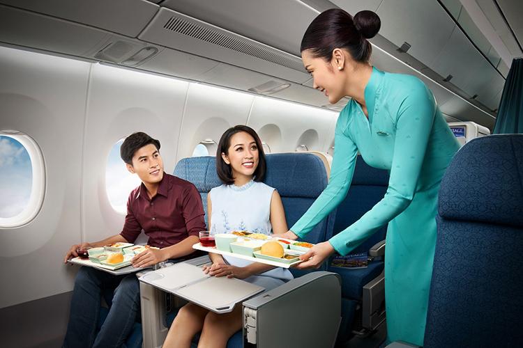 Hành khách trên chuyến bay của Vietnam Airlines.