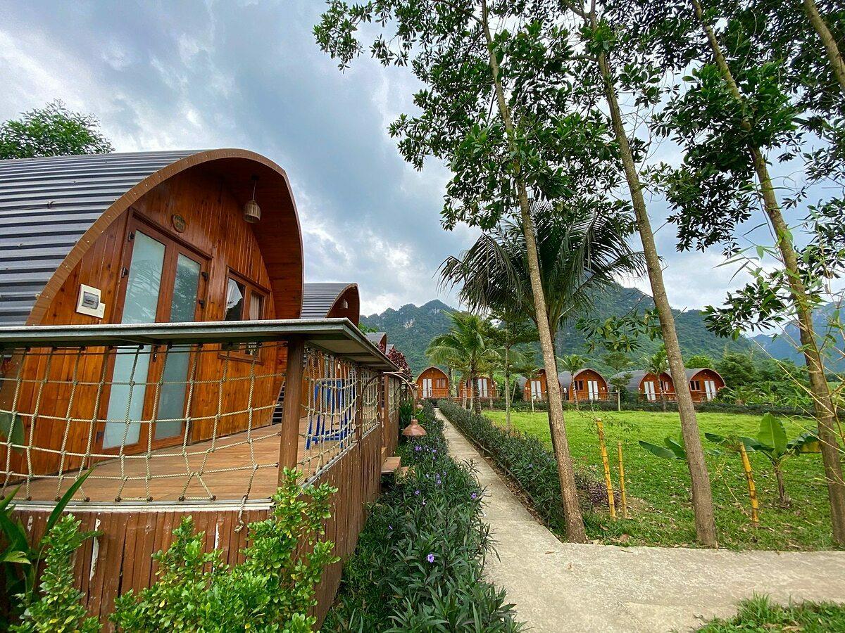 Để kích cầu người dân đi du lịch trở lại, Chày Lậpfarmstay & resort đã giới thiệu gói combo nghỉ dưỡng với mức giá giảm sâu. Ảnh: Farmstay & resort cung cấp.