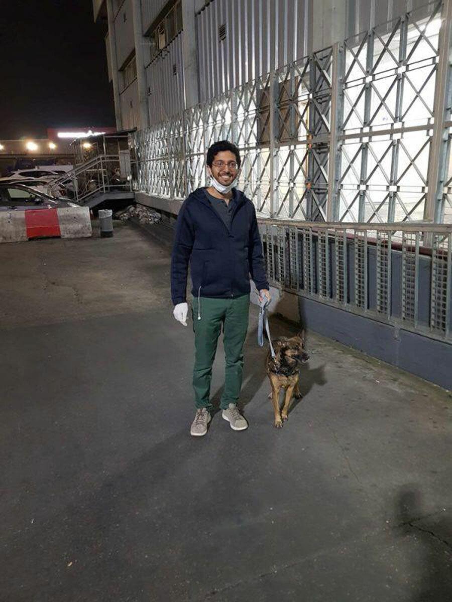 Gula và chủ tại sân bayBen Gurion của Tel Aviv, khi nó được vận chuyển từ Mỹ tới Israel. Ảnh: Yahoo.