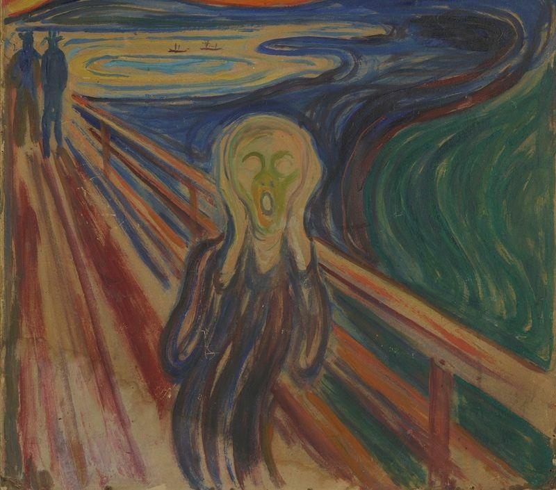 Edvard Munch sáng tác 4 bức cùng tên Tiếng hét trong khoảng năm 1893 - 1910. Ảnh: AFP.