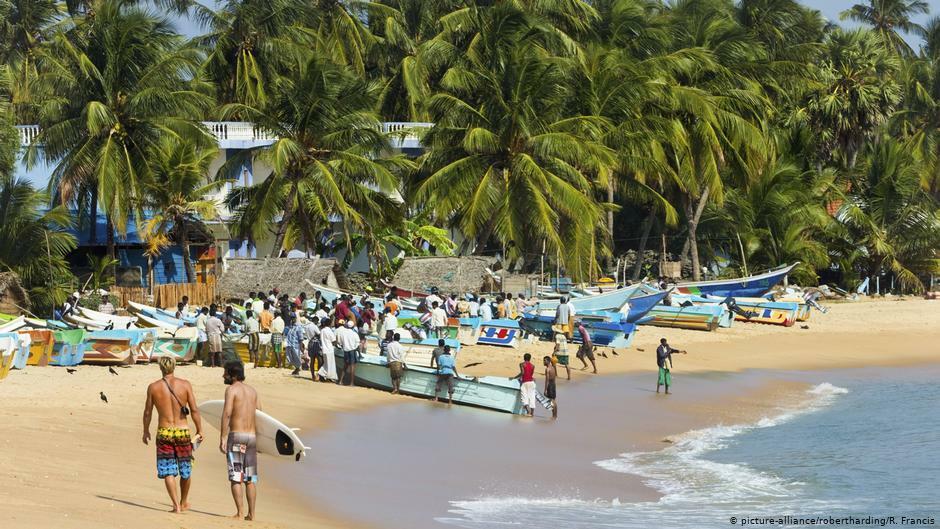 Ngành du lịch cũng đóng vai trò quan trọng trong nền kinh tế Sri Lanka. Ảnh:R.Francis/DW.