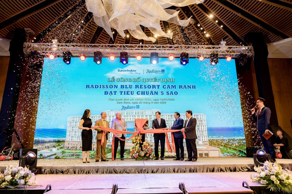 Radisson Blu Resort Cam Ranh được Tổng cục Du lịch công nhận 5 sao.