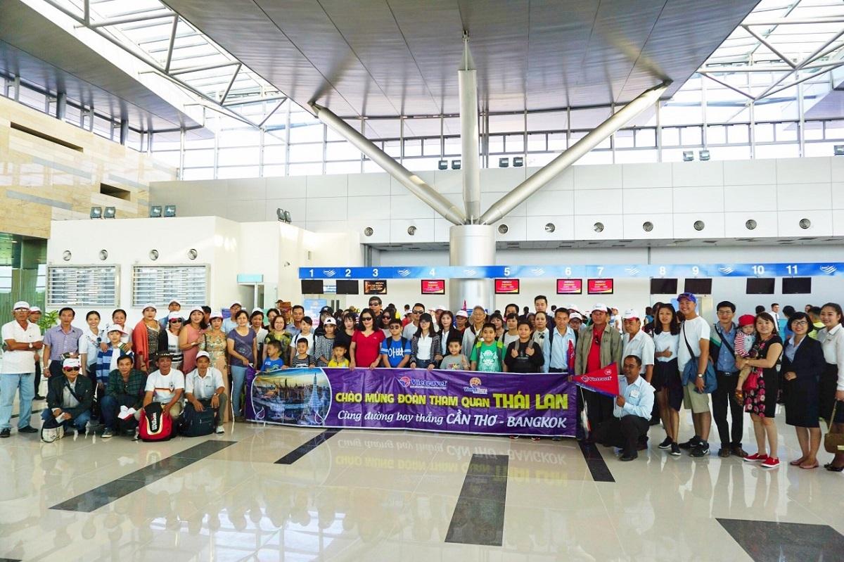Các chuyến bay charter của công ty tới Thái Lan khi dịch bệnh chưa bùng phát.