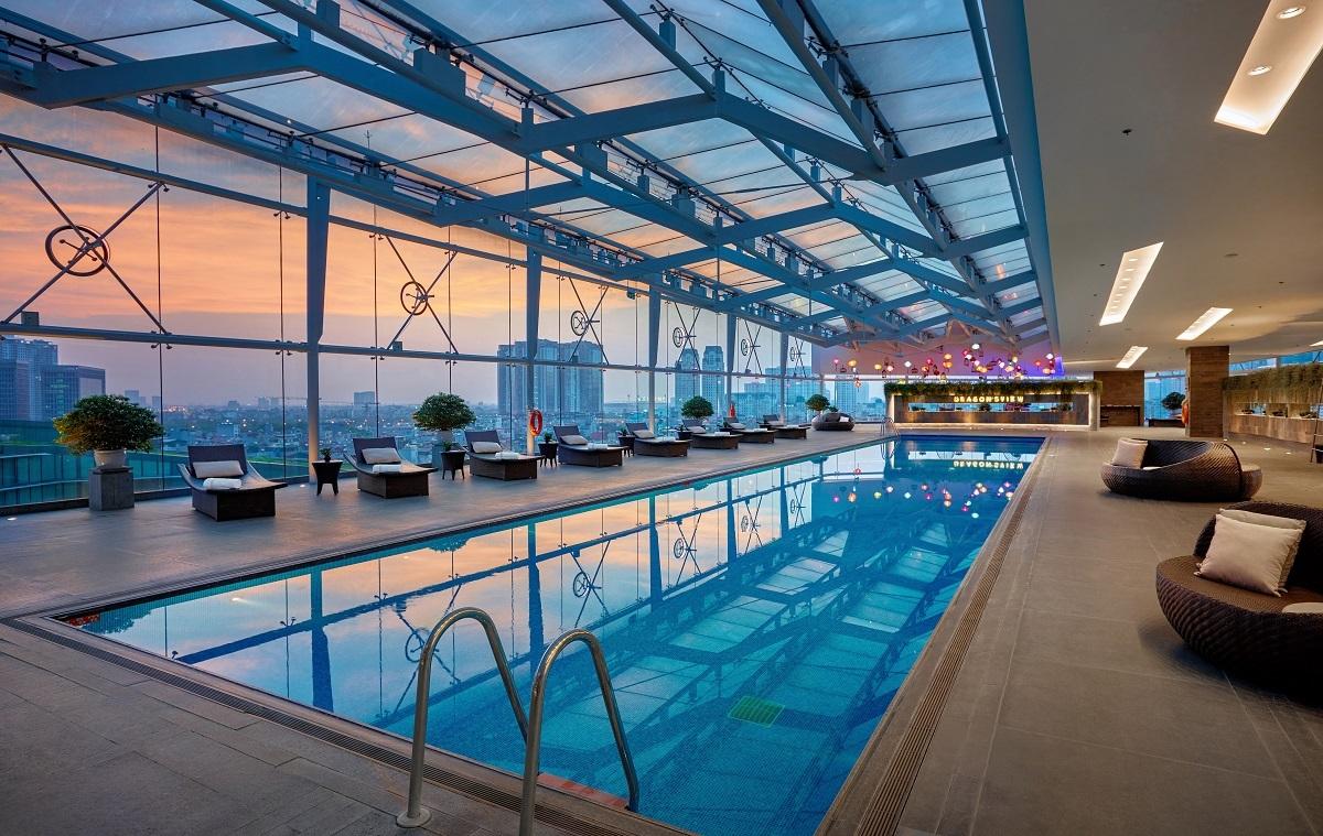 Khung cảnh trong khách sạn Marriott International.