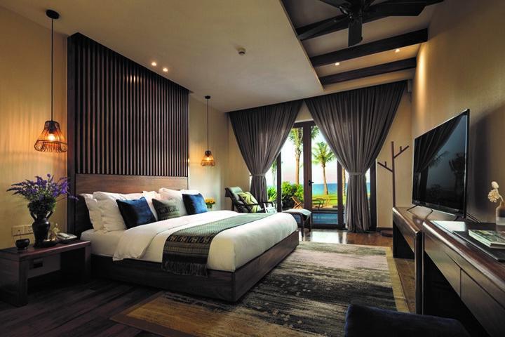 Những căn Villa tại Mövenpick Resort Cam Ranh tuân thủ nguyên tắc đã là biệt thự nghỉ dưỡng biển thì phải nhìn thấy biển, sát biển và chỉ 1 tầng.