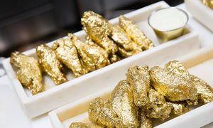 1.000 USD một phần cánh gà phủ vàng 24K