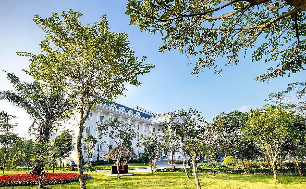 Tòa khách sạn của khu nghỉ dưỡng tại Vĩnh Phúc. Ảnh: FLC Vĩnh Phúc.
