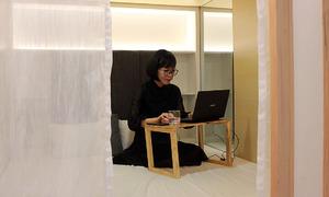 Quán cà phê 'tổ kén' kiểu Nhật