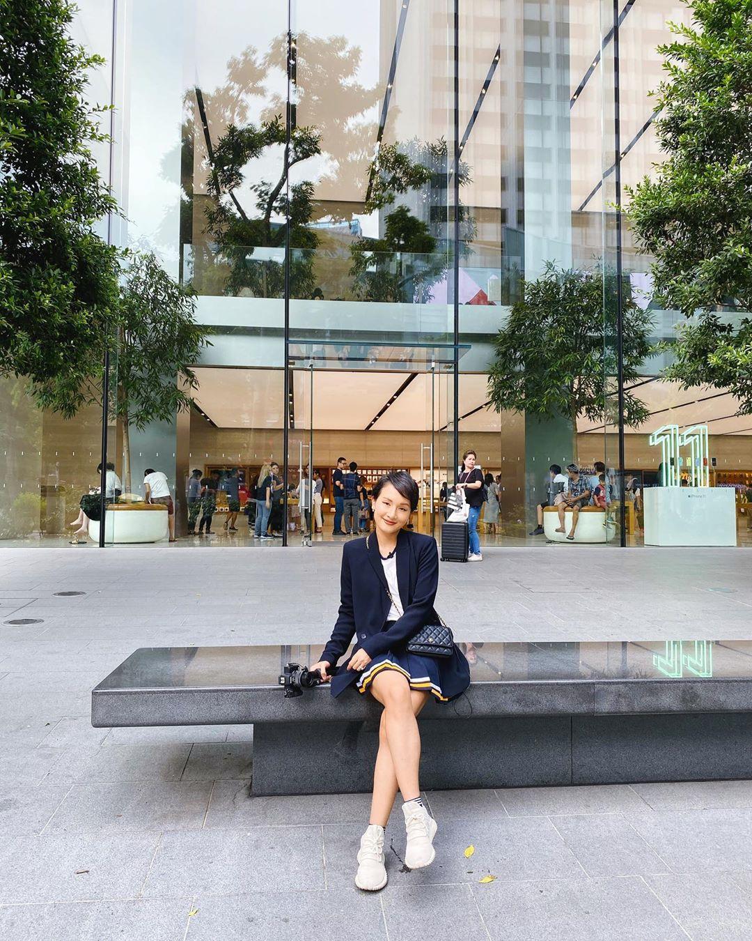 Vlogger Giang Ơi nhận nhiều lượt like, tương tác khi đăng ảnh và chia sẻ về kỷ niệm tại Singapore. Ảnh: Instagram.
