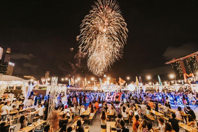 Lễ hội ẩm thực Singapore năm 2019 thu hút nhiều thực khách tham gia. Ảnh: Visit Singapore