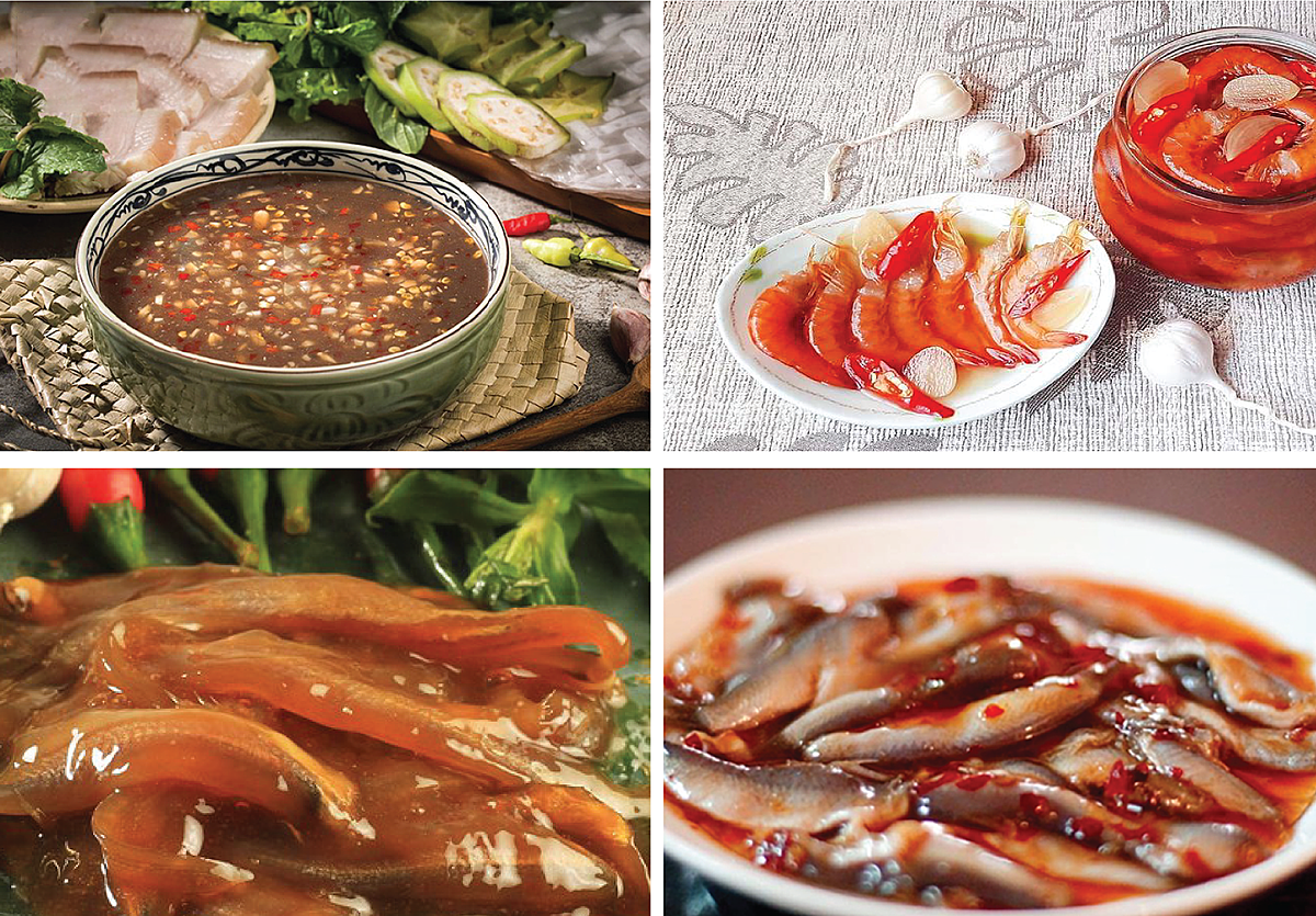 Vietnam - The country owns the most kinds of Mắm (salted fish) and dishes make from Mắm with typical favors in the world.(There are 100 dishes and being continually updated)