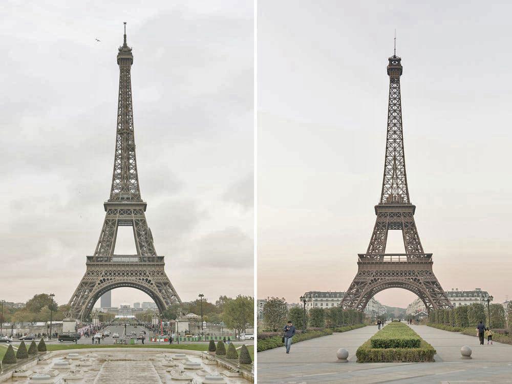 Nhiếp ảnh gia kiêm dân Paris xịn François Prost dành một tuần vào năm 2017 để đến Sky City, một khu nhà ở ngoại ô thành phố Hàng Châu, tỉnh Chiết Giang, Trung Quốc để chụp các công trình nhái các tác phẩm ở thủ đô Pháp.