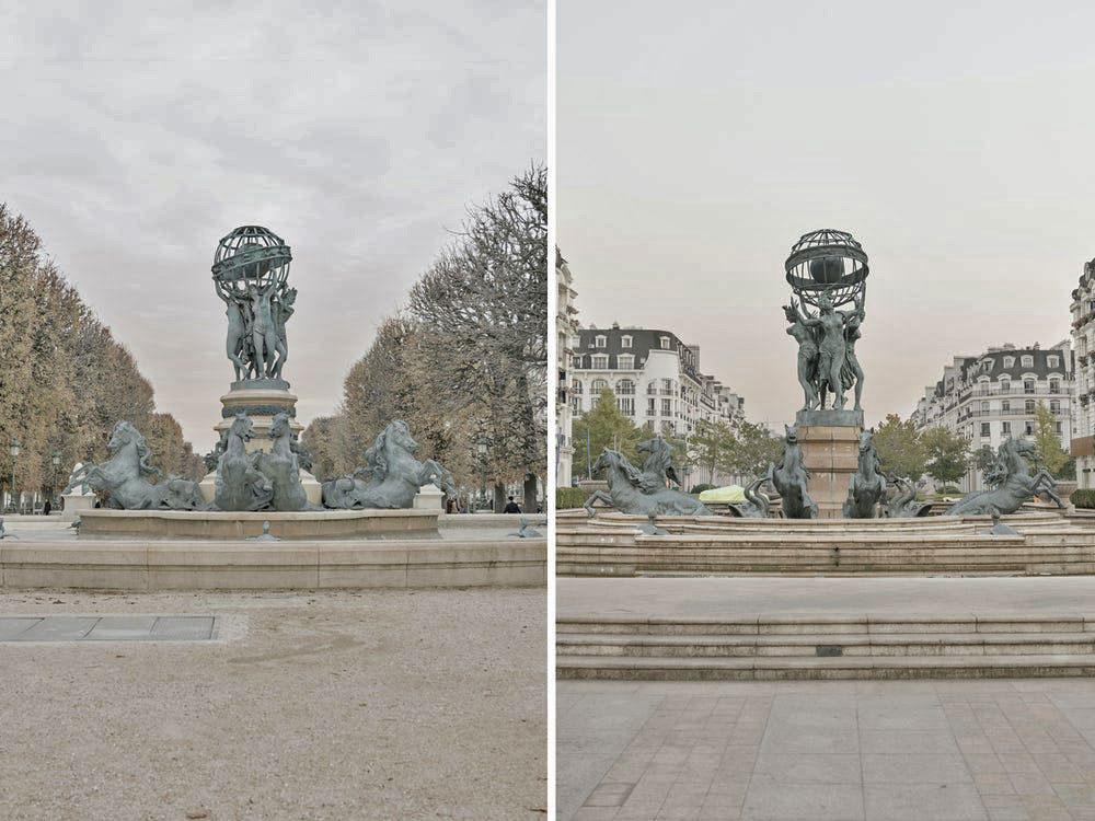Điều khiến nhiếp ảnh gia ấn tượng là các điểm đến nổi tiếng ở Paris hoàn toàn vắng khách trong ngày đầu tới Sky City. Nhưng anh thích điều này. Tôi thích một Hàng Châu với những khung cảnh giống Paris, nhưng lại không có khách du lịch, thay vào đó là những cư dân sống ở đây.