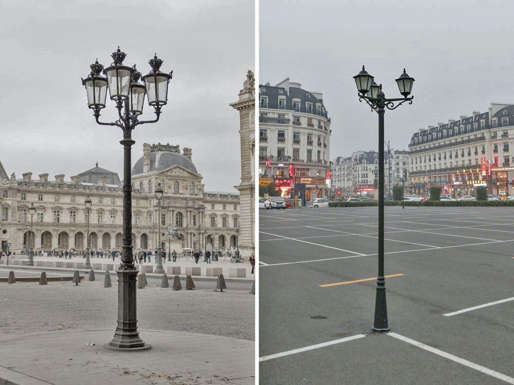 Anh đã chụp hàng trăm bức ảnh ở Sky City, và sau đó mất nhiều thời gian để tìm ra các địa điểm tương tự ở Paris để ghi lại.