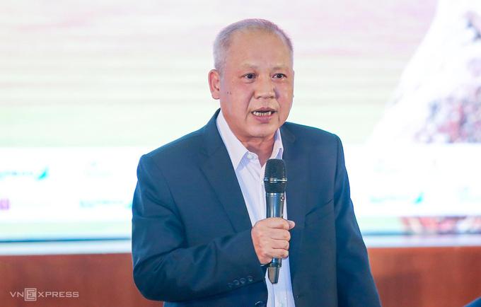 Ông Võ Huy Cường tại tọa đàm Bay thẳng tới Côn Đảo: Trải nghiệm thiên đường du lịch mới tại FLC Sầm Sơn, Thanh Hóa.