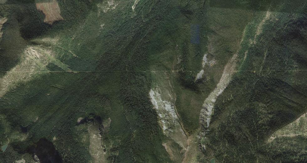 Biên giới Mỹ - Canada nhìn từ vệ tinh. Ảnh: Google Maps