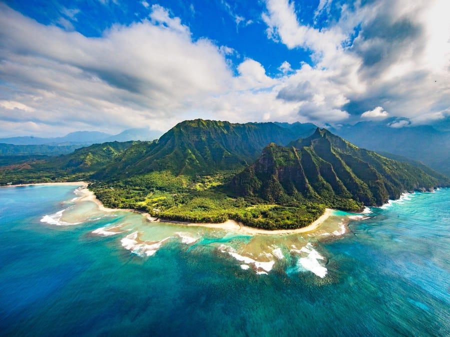 Đảo Kauai nhìn từ trên cao. Ảnh: Shane Myers Photography/Shutter stock
