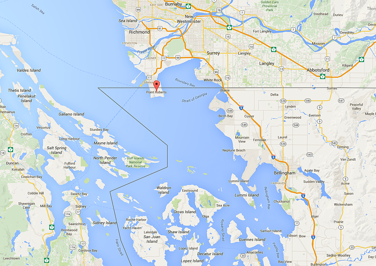 Hiệp định 1818 vô tình cắt một phần đất nhỏ xíu của Canada cho Mỹ. Ảnh: Ordinary Wonder