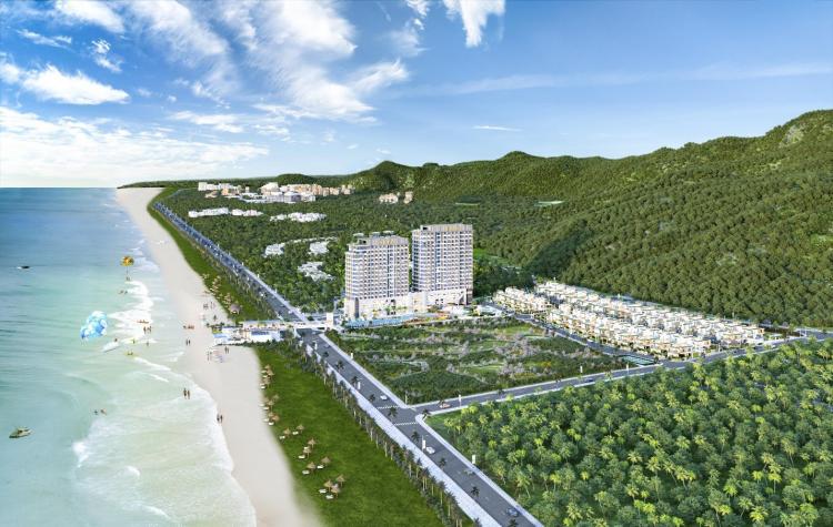 Khu nghỉ dưỡng nằm bên bờ biển Phước Hải, Vũng Tàu.