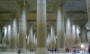 'Ngôi đền' khổng lồ dưới lòng đất giúp Tokyo chống lũ