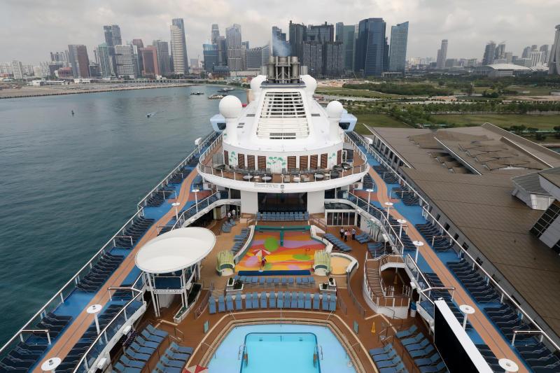 Giới chuyên môn cho rằng việc nối lại các chuyến du lịch từ Singapore và hệ thống chứng nhận của quốc gia này là một bước tiến của ngành du lịch bằng tàu biển, vốn đã tạm dừng hơn sáu tháng. Ảnh: Ong Wee Jin/Straits Times