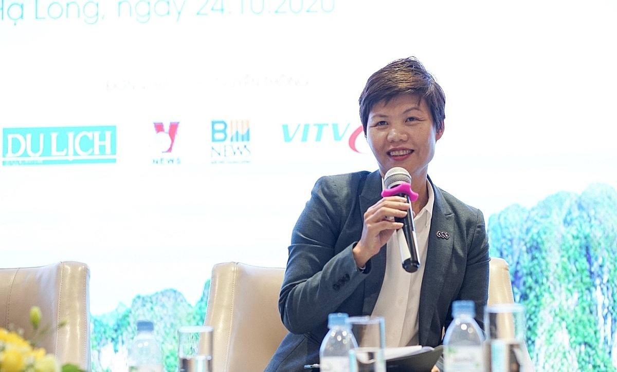 Bà Nguyễn Phúc Ngân, Phó Tổng giám đốc thường trực Công ty TNHH MTV Quản lý khách sạn và Khu nghỉ dưỡng FLC.