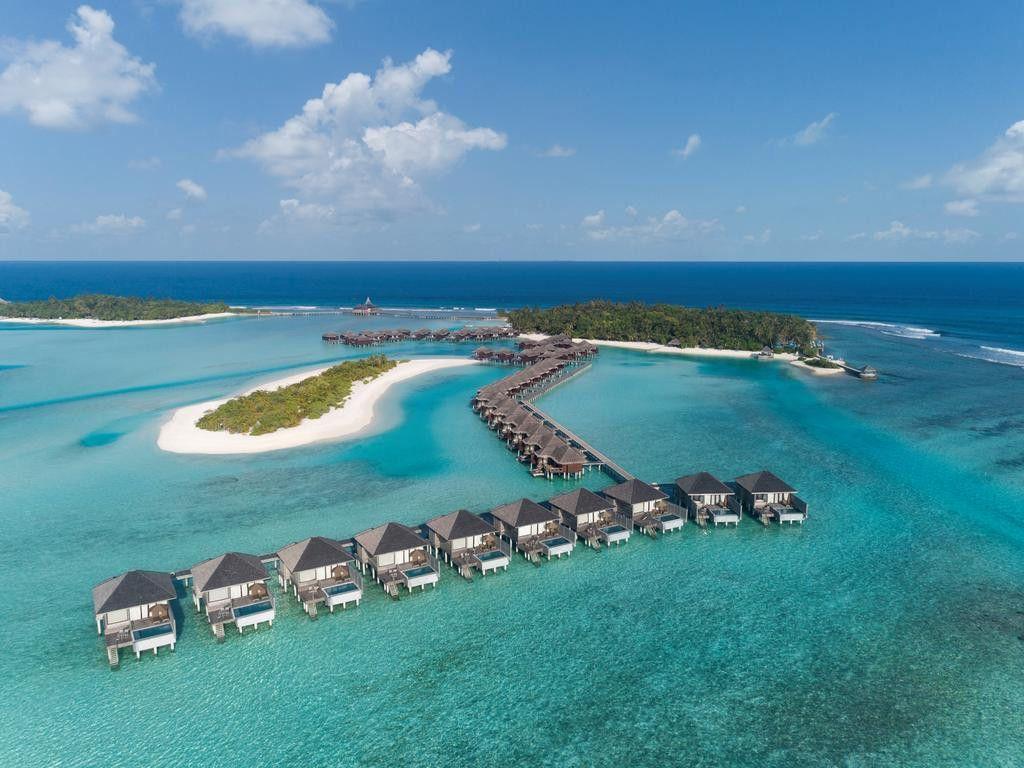 Maldives được mệnh danh là thiên đường nơi hạ giới. Trên ảnh là khu nghỉ dưỡng Anantara Veli