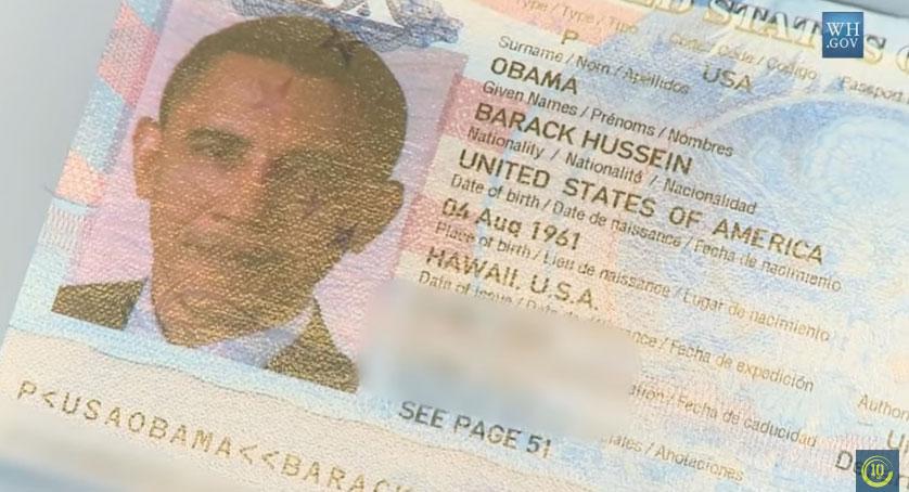 Hộ chiếu của tổng thống Obama được công bố trên kênh của Nhà Trắng - WH.gov. Ảnh: WH.gov