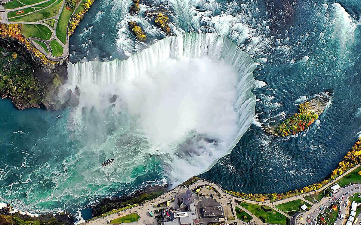 Niagara khi nhìn từ trên cao. Ảnh: Niagarafallslive