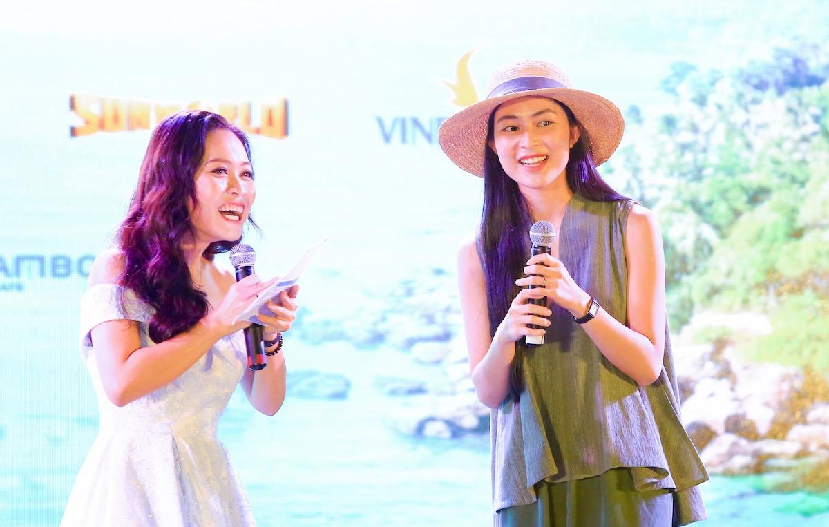 Helly Tống chia sẻ cảm xúc về rừng nguyên sinh Phú Quốc tại sự kiện ngày 22/11. Ảnh: Thiên Di.