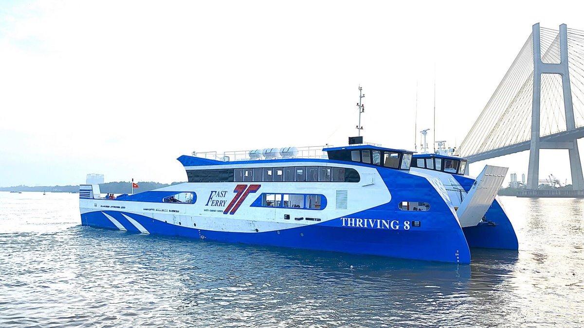 Phà Thriving 8 được khai thác cho hành trình TP HCM - Vũng Tàu. Ảnh: Sở GTVT