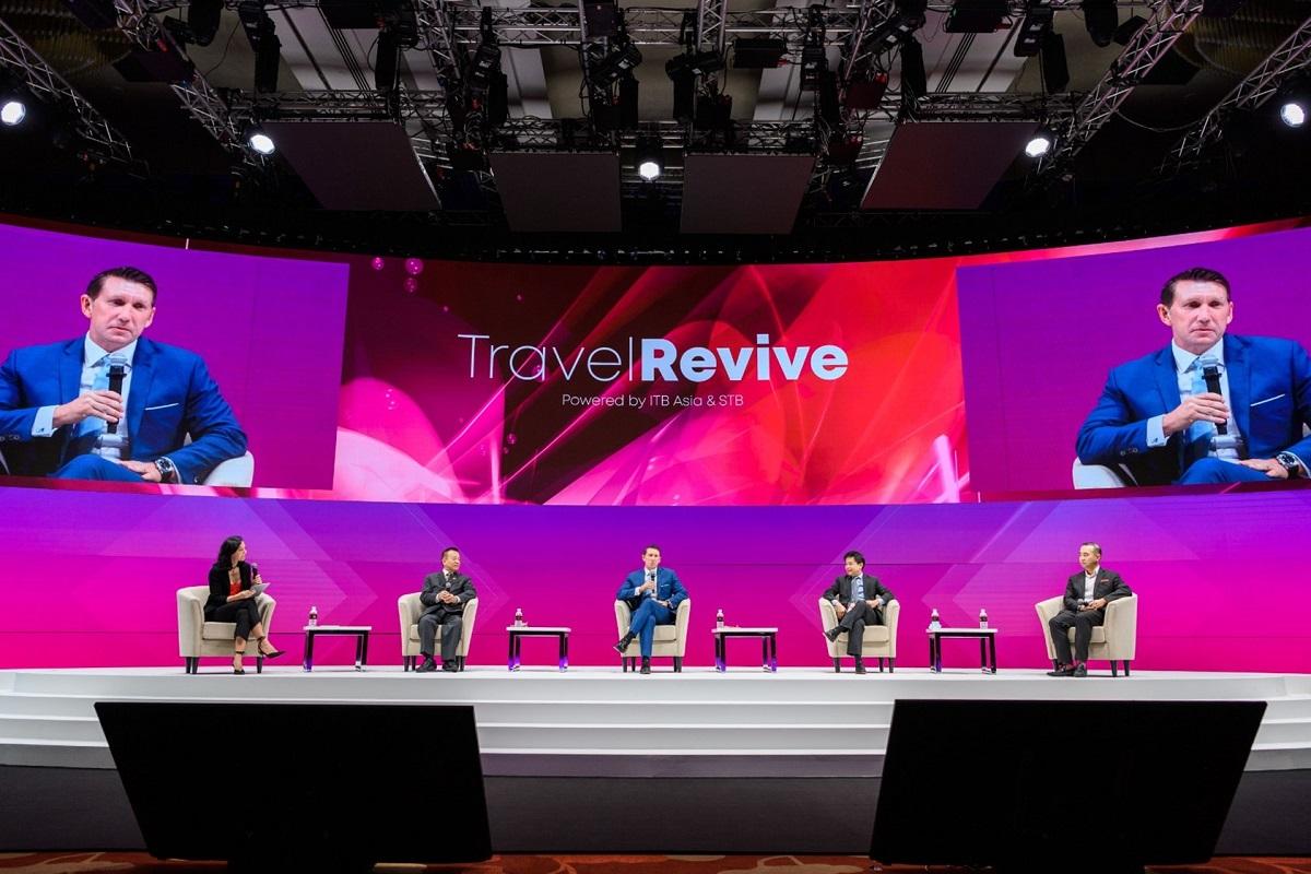 Triển lãm du lịch Travel Revive do Tổng cục Du lịch Singapore phối hợp cùng Messe Berlin tổ chức, diễn ra ngày 25 và 26/11. Ảnh: ITB Asia.