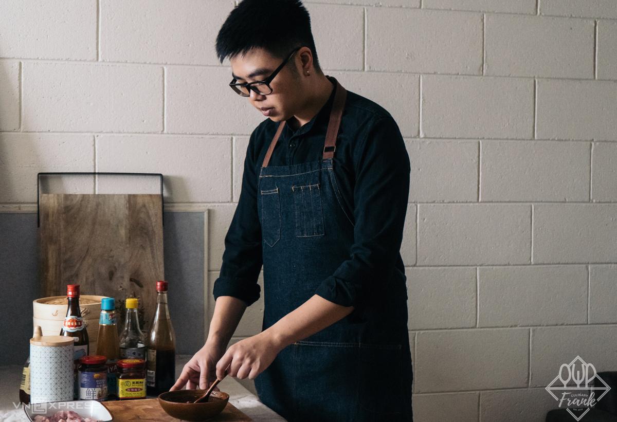 Frank Pham (tên thật là Phạm Thế Phương) là đầu bếp tại Melbourne (Úc). Ảnh: NVCC