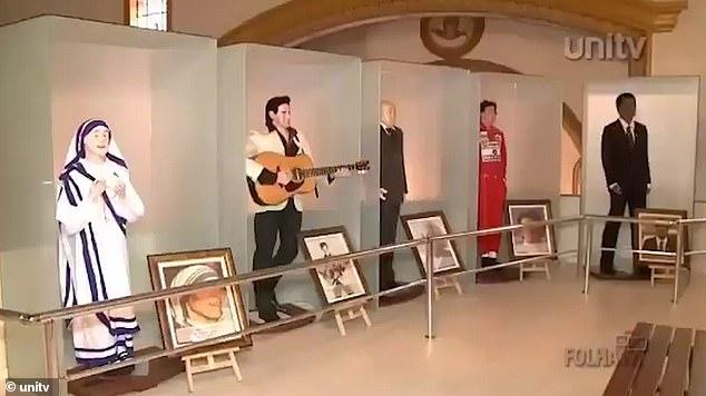 Ảnh chụp bảo tàng tượng sáp từ bản tin Brazil phát năm 2015.