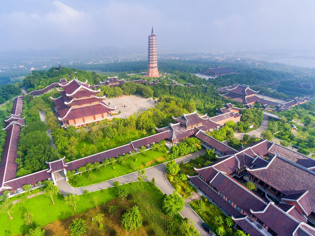 Cảnh chùa Bái Đính, Ninh Bình. Ảnh: Lữ hành Saigontourist.
