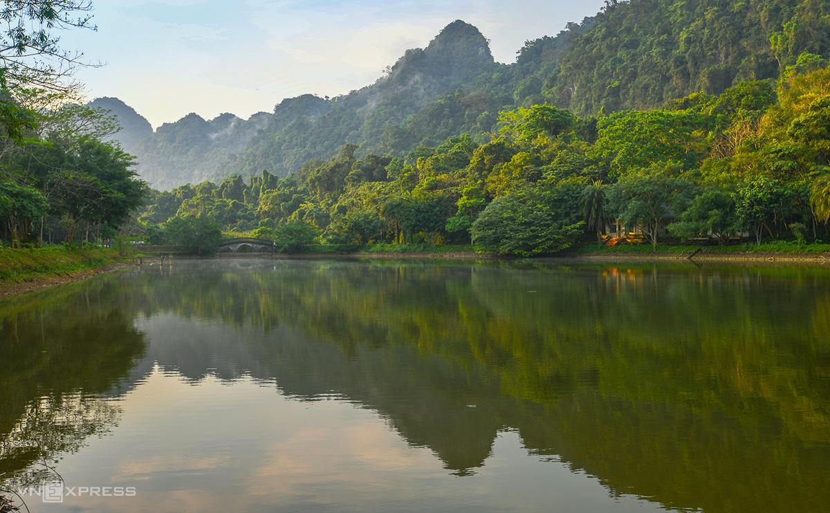Hệ sinh thái xanh trong Vườn Quốc gia Cúc Phương - địa điểm tổ chức Hội Xuân. Ảnh: Kiều Dương.
