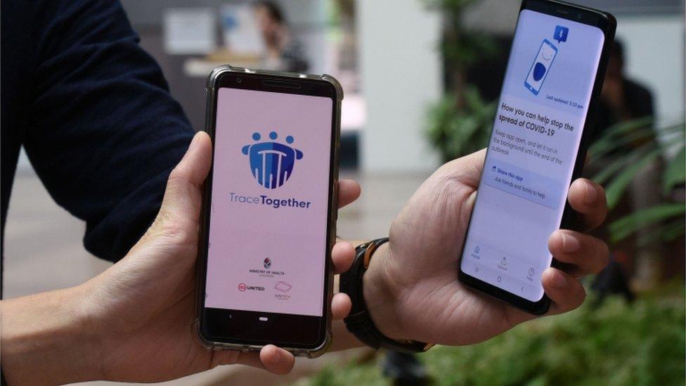 Khách du lịch được yêu cầu giữ lại ứng dụng TraceTogether với dữ liệu trong 14 ngày liên tục sau khi rời Singapore. Ảnh: AFP