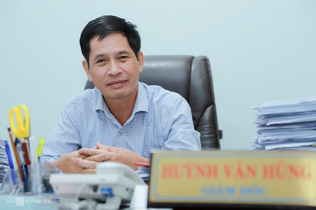 Ông Huỳnh Văn Hùng khi còn làm Giám đốc Sở Văn hoá Thể thao Đà Nẵng. Ảnh: Nguyễn Đông.