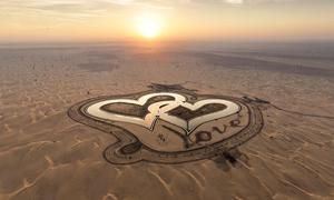 Hồ trái tim 'có một không hai' giữa sa mạc