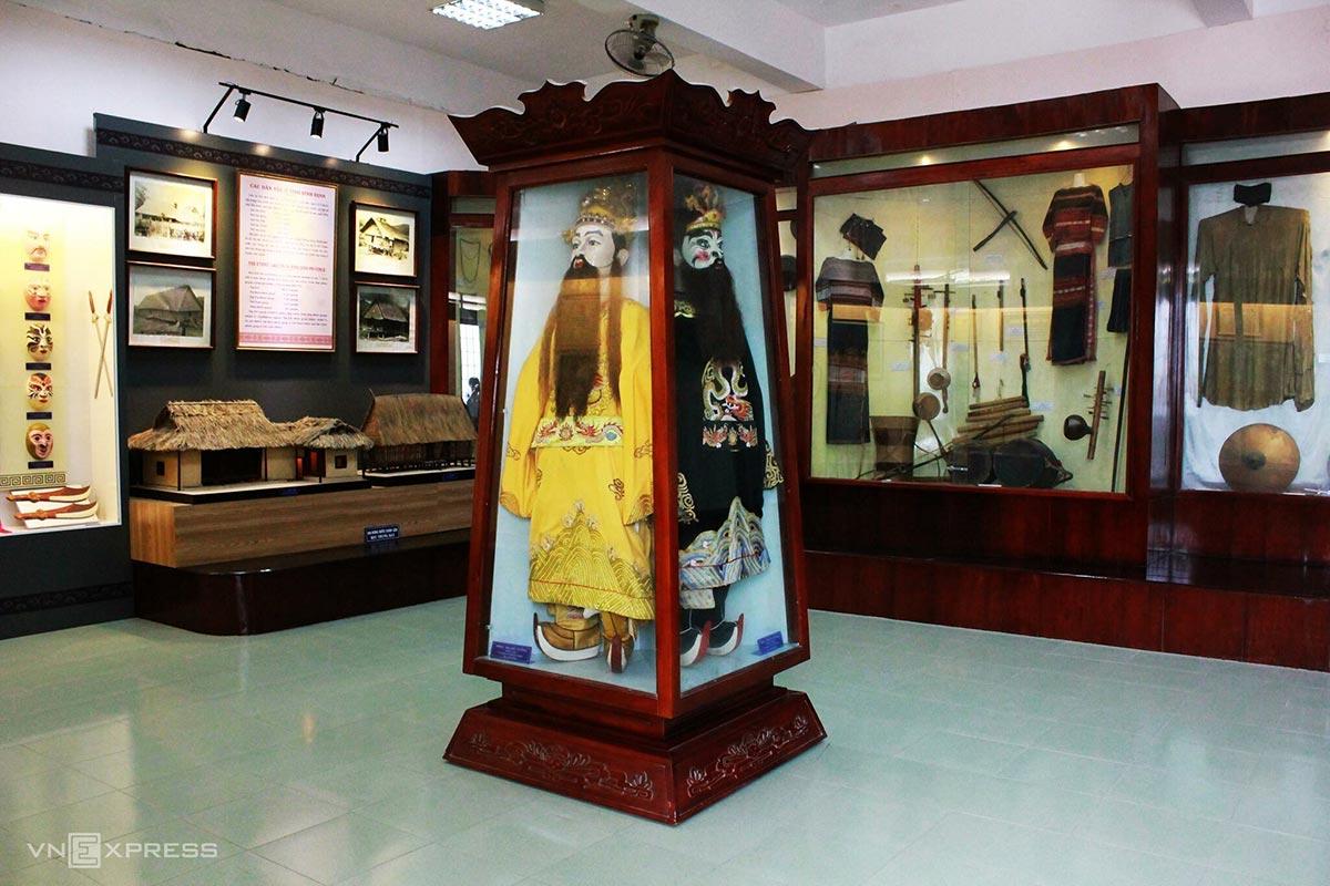 Không gian văn hóa truyền thống trong bảo tàng. Ảnh: Tâm Linh