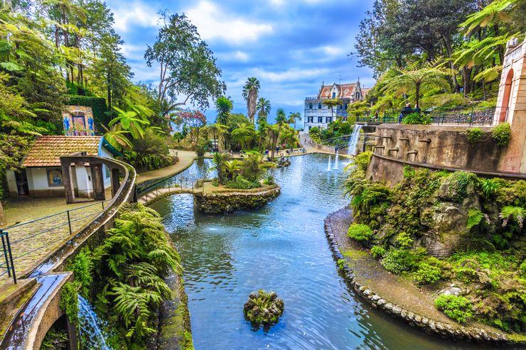 Đi cáp treo tới vườn nhiệt đới Monte Palace. Cáp treo Funchal sẽ đưa mọi người từ Almirante Reis đến Monte nhưng cũng sẽ cung cấp cho bạn tầm nhìn tuyệt vời trên toàn bộ con đường đến đó. Lên cao trên những thành phố này, cáp treo dừng lại ở ga cuối ở Monte và ngay sau đó, du khách sẽ đối diện với Vườn nhiệt đới Monte Palace. Ở đó, cuộc sống thực vật rộng lớn sẽ lấp đầy thời gian của một ngày, với các đặc điểm như khu vườn Nhật Bản và các loài thực vật từ khắp nơi trên thế giới, bao gồm từ Scotland và thậm chí là Nam Phi. Cảnh quan hoàn toàn ngoạn mục, với mỗi khu vực thực vật mang lại một khung cảnh độc đáo, chẳng hạn như hồ cá chép koi có thể tìm thấy trong khu vườn Nhật Bản. Toàn bộ hệ thống thực vật đã được xây dựng xung quanh nơi từng là khách sạn Monte Palace, và kiến trúc của nó dường như chỉ tôn lên vẻ đẹp của nơi này.