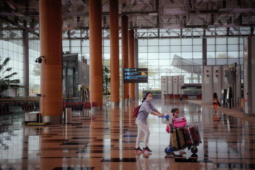 Sân bay Changi mùa dịch. Ảnh: Mark Cheong