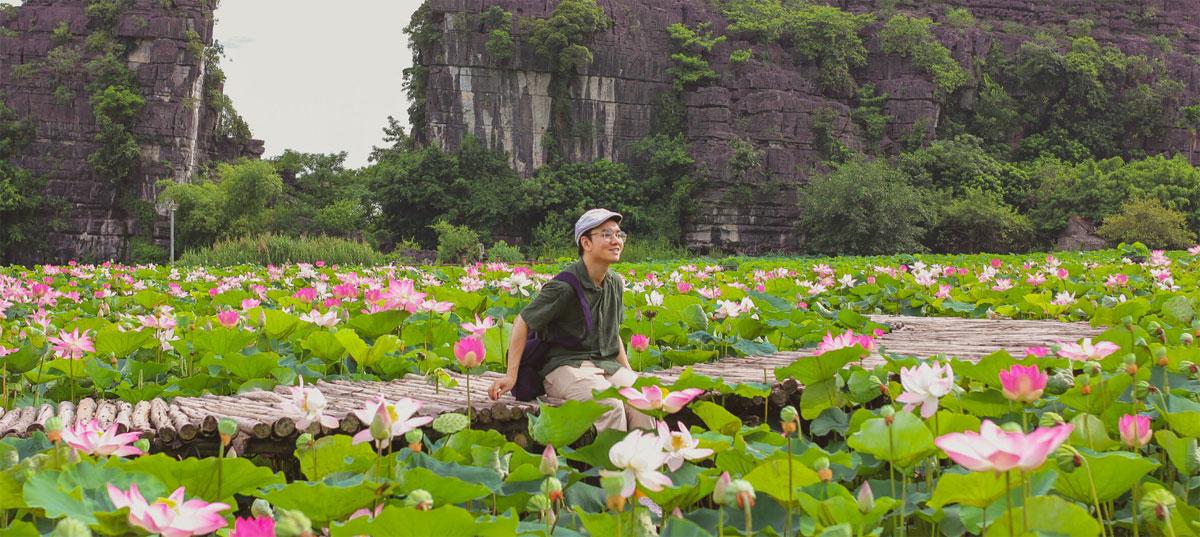 Ninh Bình tiếp tục được lựa chọn là điểm đến của năm du lịch quốc gia 2021 với chủ đề Hoa Lư – Cố đô nghìn năm. Trên ảnh là đầm sen ở Hang Múa, một điểm đến hút khách tại đất cố đô. Ảnh: Minh Đức