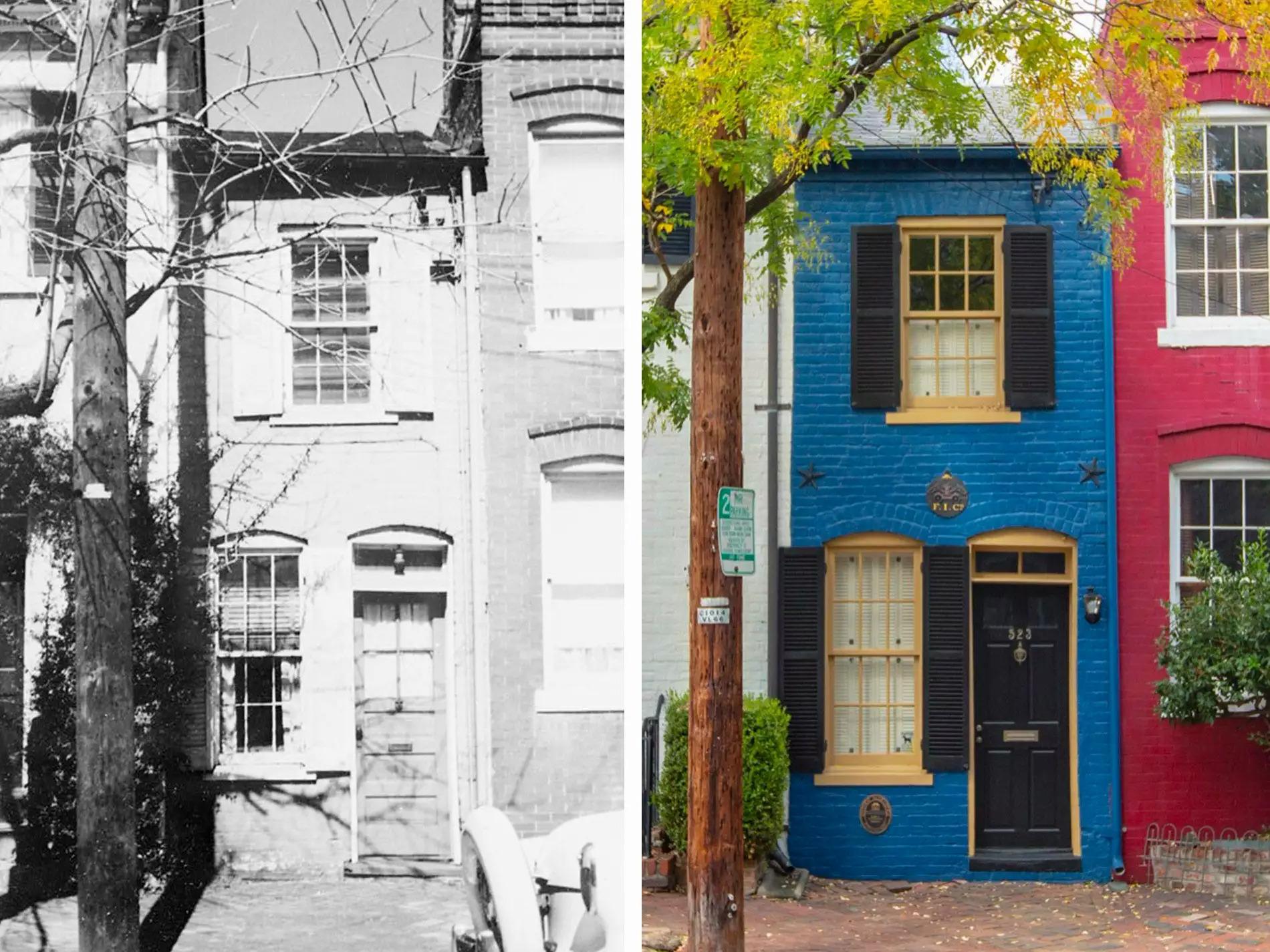 Thiết kế của ngôi nhà không thay đổi quá nhiều. Ảnh: Library of Congress; Kristian Summerer/Visit Alexandria