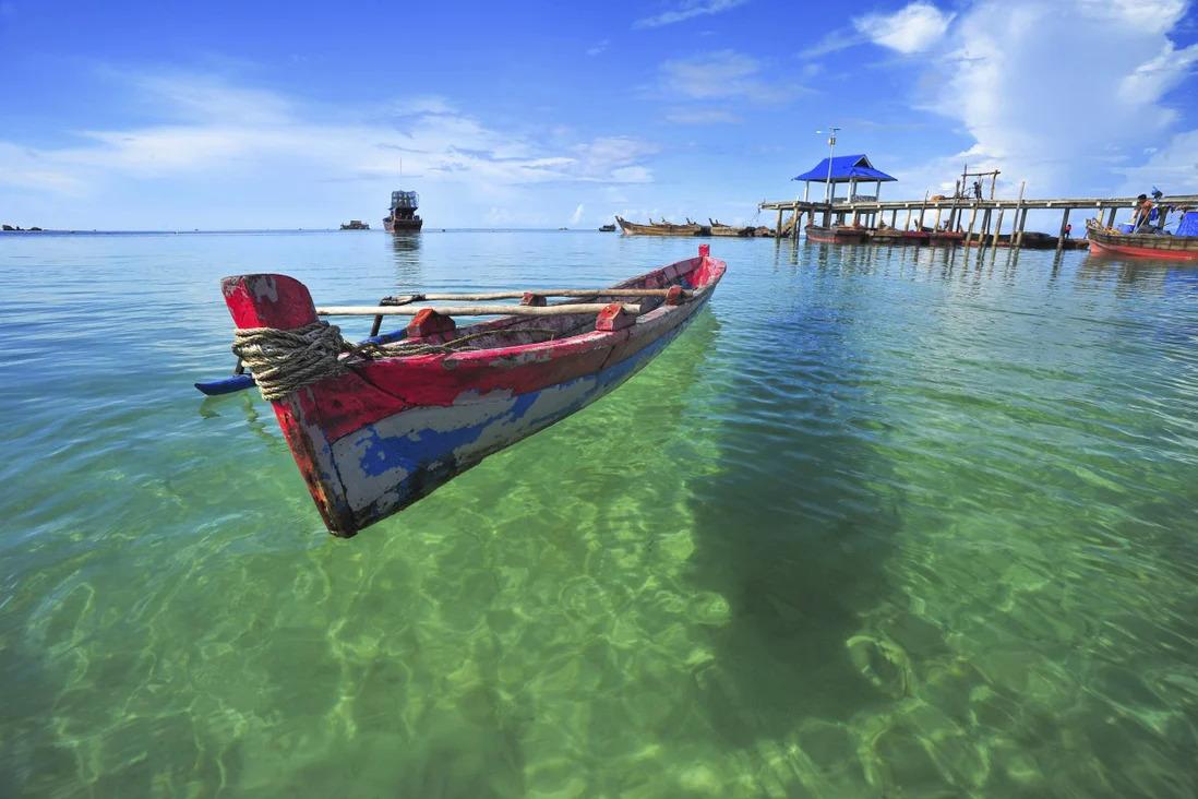 Bãi biển Trikora ở đảo Bintan, Indonesia. Ảnh: Shutterstock