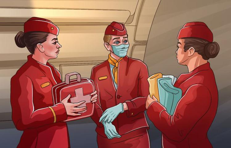 Nếu không có bất kỳ chuyên gia y tế nào, các tiếp viên sẽ trở thành nữ hộ sinh bất đắc dĩ và đỡ đẻ, chào đón em bé. Họ buộc phải thực hiện điều này nếu không có cách nào hạ cánh khẩn cấp, và chuyến bay chỉ còn cách duy nhất là bay thẳng đến điểm đích.