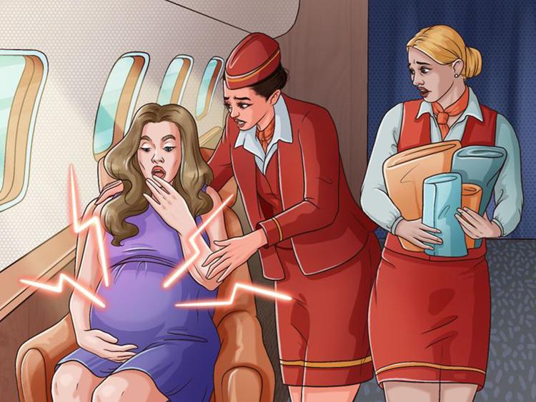 Tính mạng mẹ và bé có thể không được đảm bảoMáy bay không phải nơi lý tưởng để em bé chào đời. Thứ nhất là không khí ở trên trời loãng hơn, khiến bé khó thở. Thứ hai trên máy bay không có bất kỳ thiết bị công nghệ cao nào hỗ trợ quá trình chuyển dạ, đặc biệt nếu cần mổ gấp. Ngoài ra, tai của trẻ sơ sinh có thể căng, đau do áp suất không khí.Có một số lý do khiến máy bay không phải là nơi lý tưởng để em bé chào đời. Trước hết, không khí ở trên đó loãng hơn, sẽ khiến bé khó thở. Thứ hai, trên máy bay, không có bất kỳ thiết bị công nghệ cao nào hỗ trợ quá trình chuyển dạ, đặc biệt là nếu cần phải mổ gấp. Ngoài ra, tai của trẻ sơ sinh có thể bị căng do áp suất không khí.Mặc dù việc sinh nở trên không khá hiếm khi xảy ra, nhưng phi hành đoàn sẽ đảm bảo rằng người mẹ cảm thấy an toàn và thoải mái nhất có thể. Người mẹ có thể được chuyển đến một khu vực rộng rãi hơn, như khoang hạng nhất hoặc hạng thương gia.Bạn sinh ra ở đâu? Bạn có biết ai đó đã sinh ra trên máy bay? Bạn sẽ đến thăm những nơi nào nếu có vé máy bay miễn phí trọn đời?